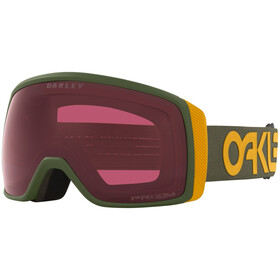 Oakley Flight Tracker XS Schneebrille FP dark brush mustard yellow/prizm snow dark grey